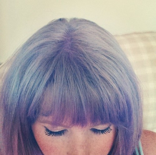 Hairstyle with Lavender Color