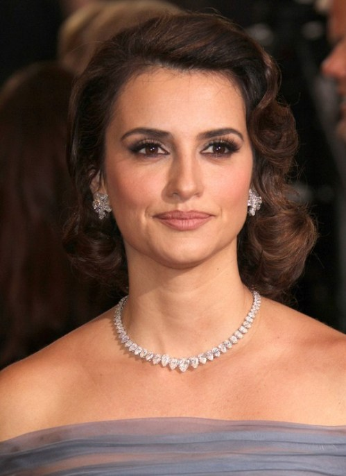 Penelope Cruz Mid-Length Bob Hairstyle for Prom