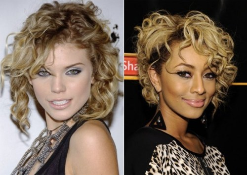 Sexy Celebrity Curly Hairstyle for Short Hair
