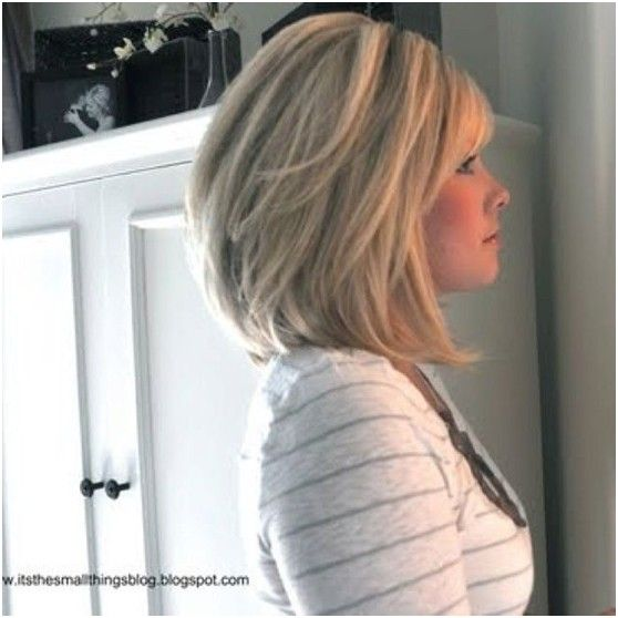 Side View of Medium Bob Haircut for Thick Hair