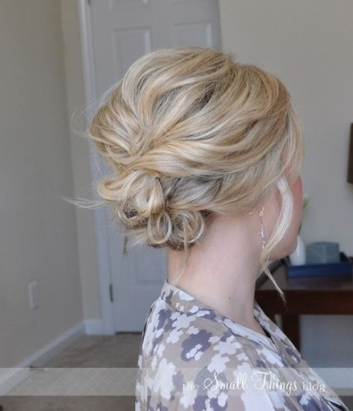 Easy Messy Updo for Wedding