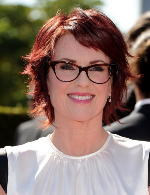 Megan Mullally Easy Layered Red Razor Cut for Women