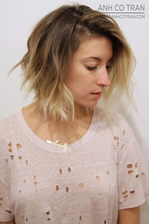 short ombre bob hairstyle 6