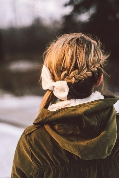 Back View of Braided Hairstyle for Winter 2014 - 2015