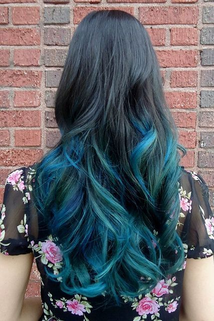 Black to Blue Ombre Hair