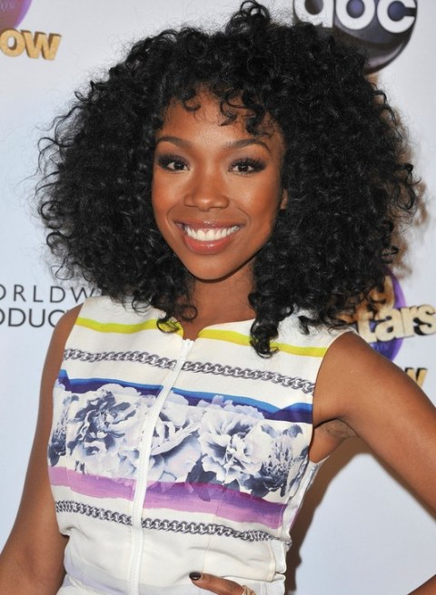 Brandy Medium Black Curly Hairstyle for Black Women