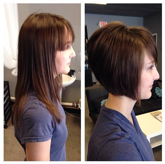 Cute Short Straight Bob Haircut for Women