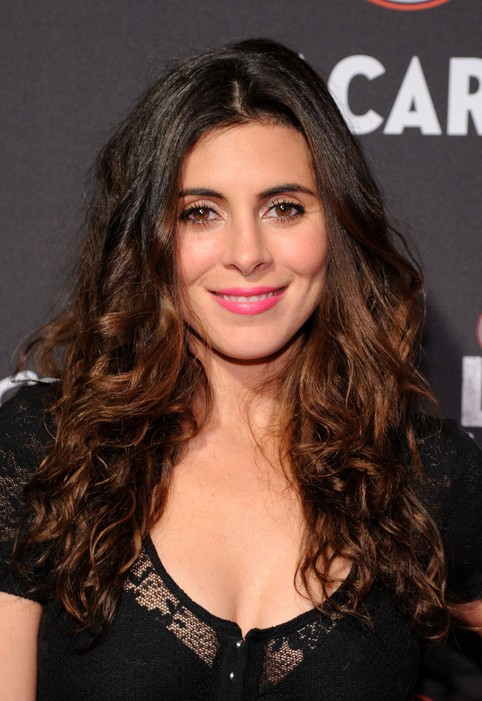 Jamie-Lynn Sigler Long Dark to Brunette Ombre Curly Hairstyle for Women