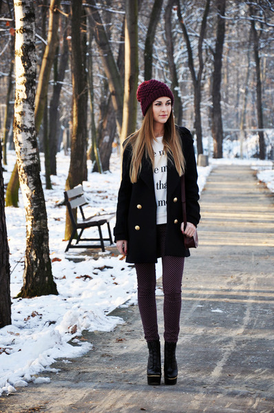 Long Straight Hairstyle for Winter