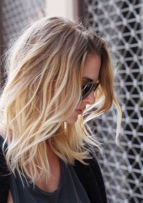 Sext messy wavy ombre hair for shoulder length hair