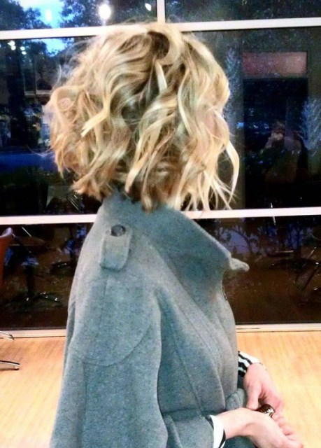 Short Blonde Curly Bob Hairstyle for 2014