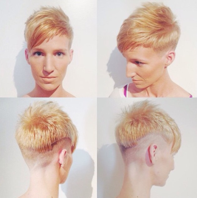 Stylish Short Haircut with Side Swept Bangs