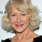 Helen Mirren Layered Bob Hairstyle with Curls for Women Over 60