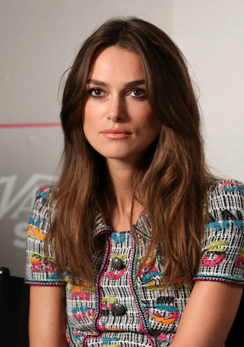 Keira Knightley Long Hairstyle for Thick Hair