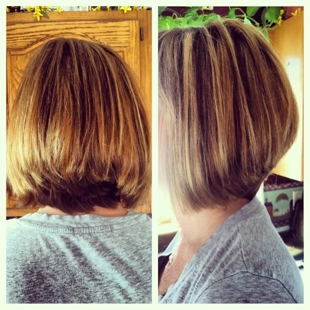 Daily Layered Bob Haircut for Thick Hair