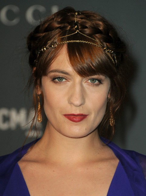 Florence Welch Braided Updo for Prom Night