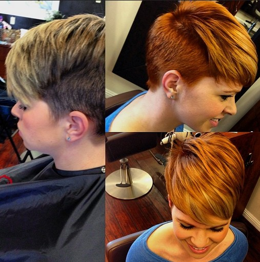 Short Layered Haircut For Winter Short Cut With Copper