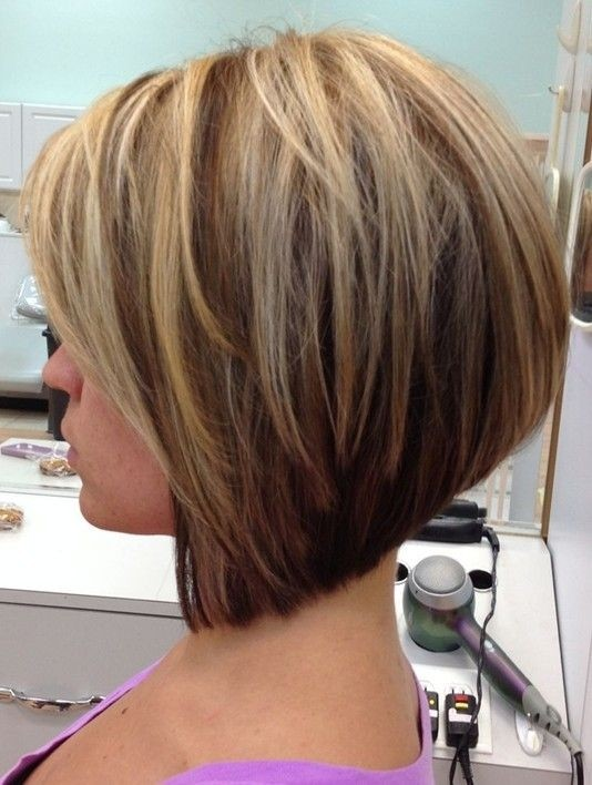 Side View of A-line bob hairstyle for girls