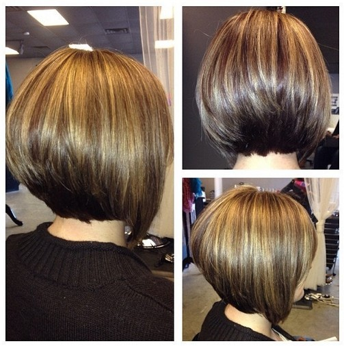 Daily Hair Ideas Stacked Bob Hairstyle For Women Side