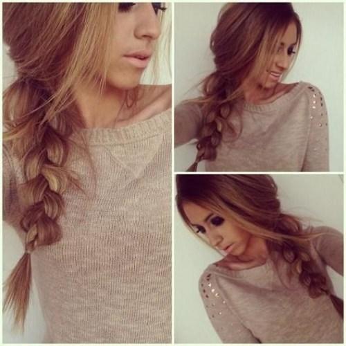 Casual-Braid-Hairstyle-Thick-Hair