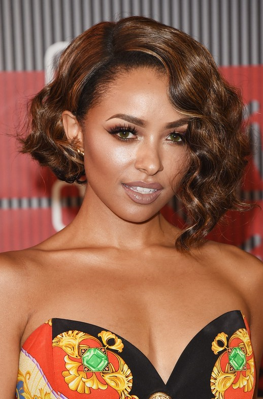 Kat Graham Short Wavy Bob Hairstyle for Black Women