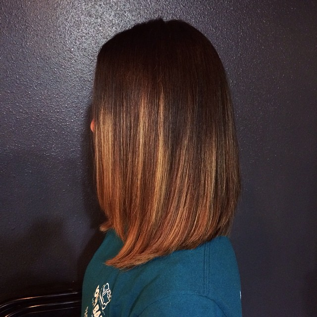 Ombred long bob hairstyle for women