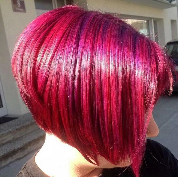 Redhead - short graduated bob hairstyle for women