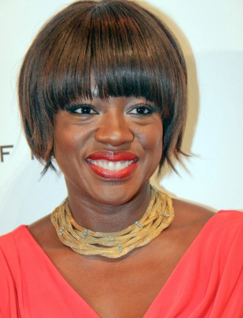 Viola Davis Razor Bob Haircut for Black Women