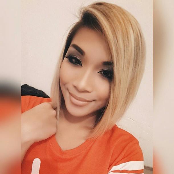 cute blonde medium length lob haircut