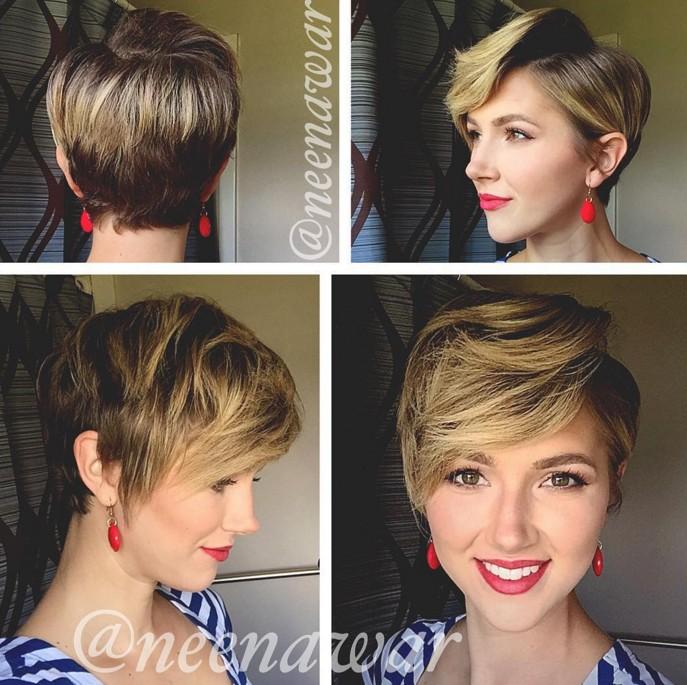 easy daily haircut - long pixie cut for women