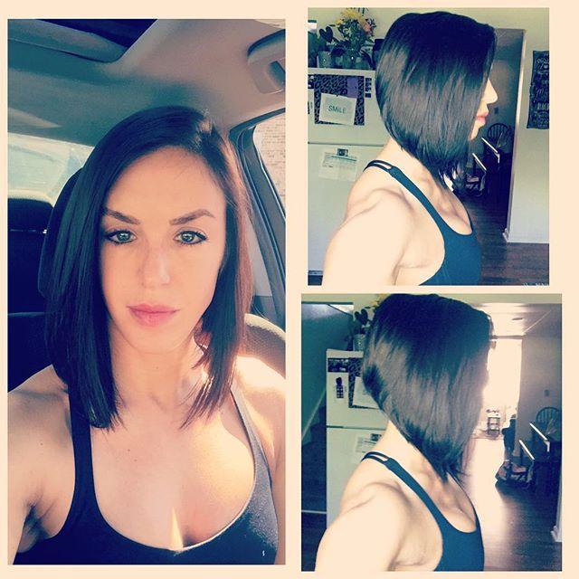 long a-line bob haircut for oval face shapes