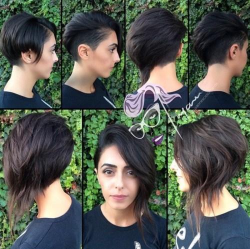 messy long asymmetrical pixie cut