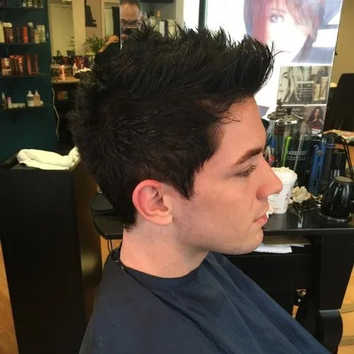 short Faux Hawk haircut for young guys