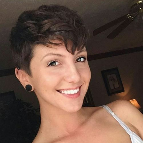 short messy pixie cut for women