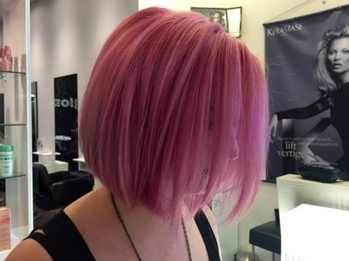 short pink bob haircut hair color ideas
