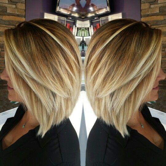 Inverted bob blonde balayage