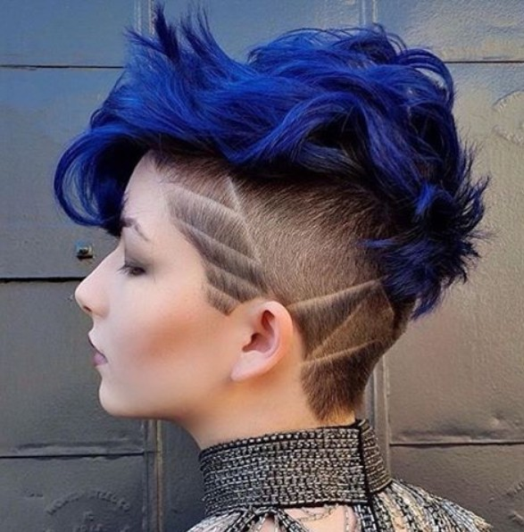 Blue Pixie Haircut - Stylish Short Hairstyles