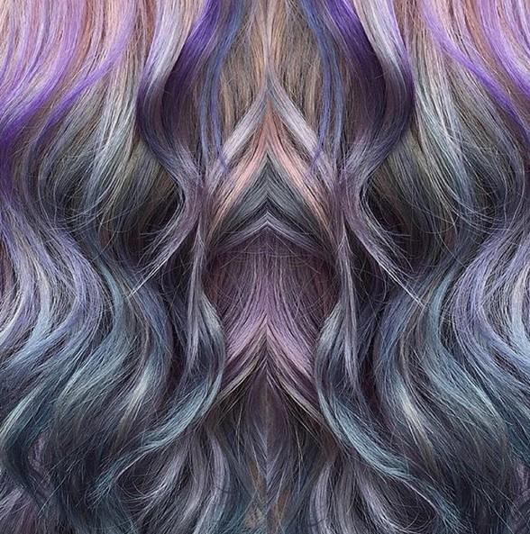 Galaxy Hair - Stylish Hair Color Trends 2016