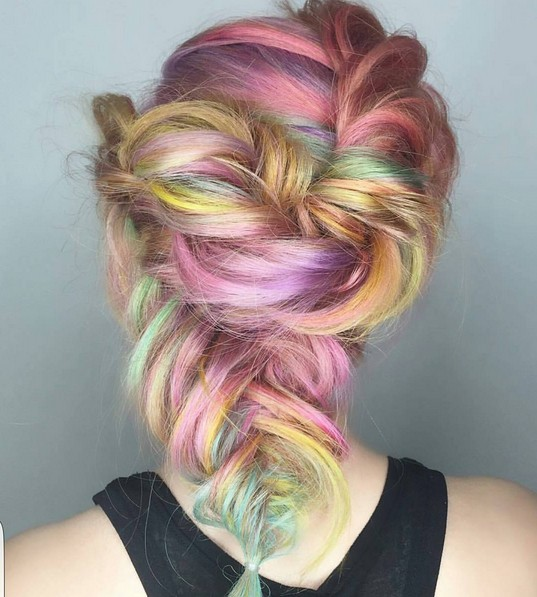 Half-up Half-down Hairstyle - Updos with Loose Braid