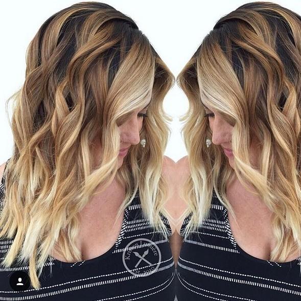 Layered, Wavy Haircut - Balayage, Shouler Length Hairstyles