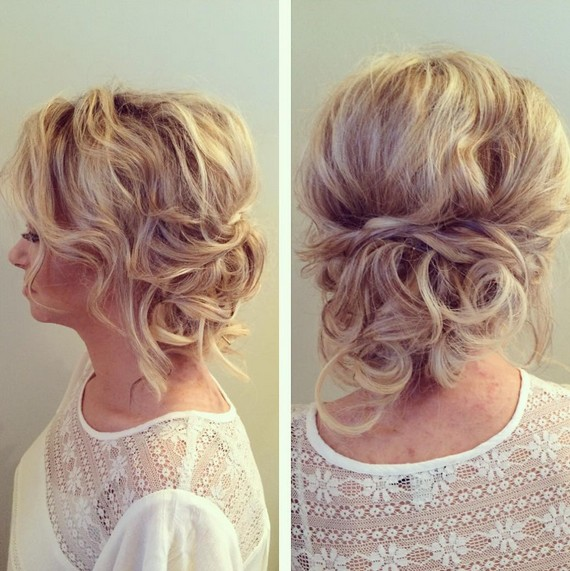 Messy, Updo Hairstyle - Casual, Everyday Hairstyle for women Medium Hair