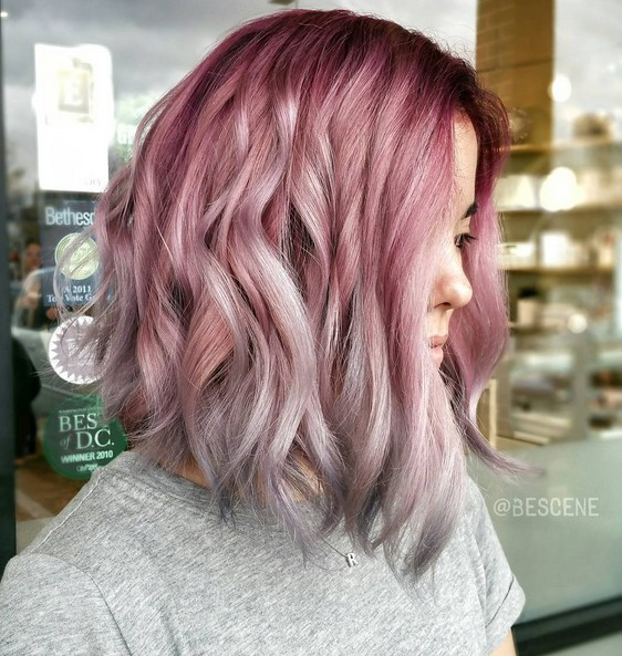 Ombre Hairstyle Designs - Shouder Length Haircuts with Wavy Hair