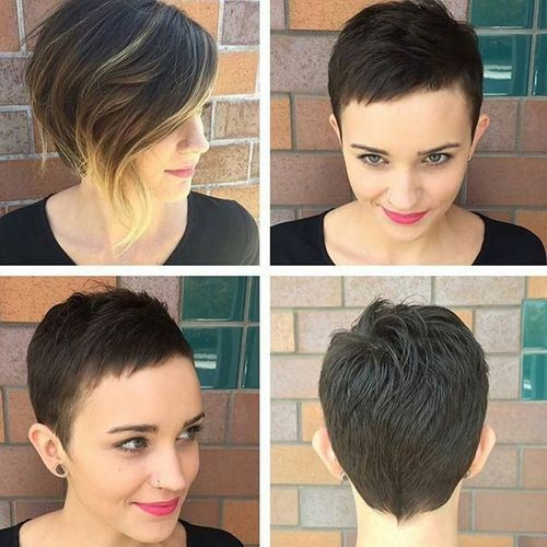 Pixie Haircut with Heart Face Shape - Girl Short Hairstyles