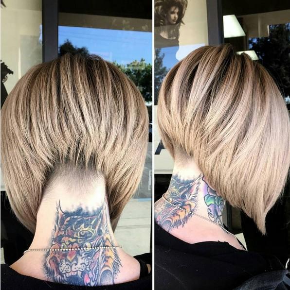 Pretty Short Bob Haircut for Thick Hair