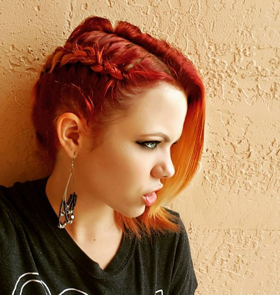 Ombre Hairstyle for Short Hair - Cute Short Hairstyles with Braid