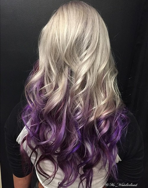 Golden and Lavender Hairstyle