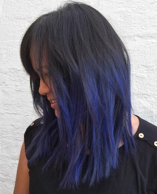 Lavender Straight Hair