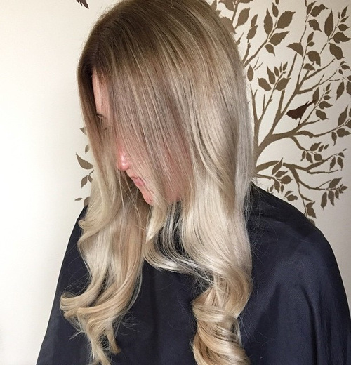 Pale Brown and Sliver Curls