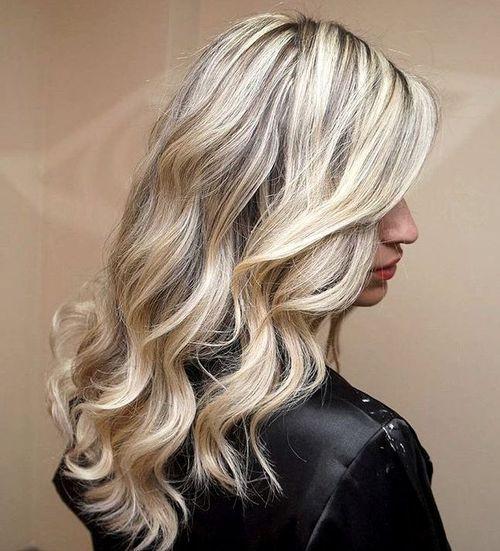 Sliver Highlights for Blonde Curls