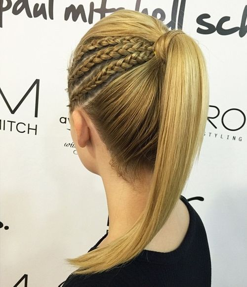 Triple Braided Ponytail